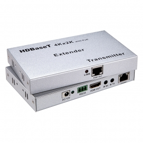 100M ultrathin HDBT Extender Support HD BaseT/4Kx2K/PoE/RS232/Bi-directional IR