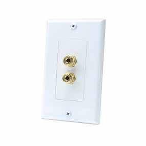 2 Port Binding Post Home Theater system Wall plate For USA