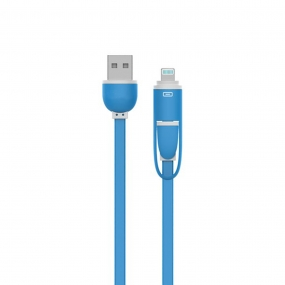 USB Link Data & Charging Cable Sync Lightning Support Iphone6/6s and Android SmartPhone-Blue