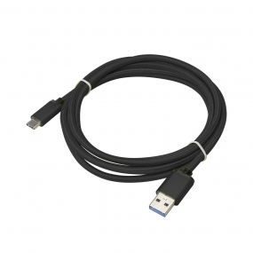 USB 3.1 Type-C to USB 3.0 A Male  Nylon weave Cable - 3.3 Feet-Black