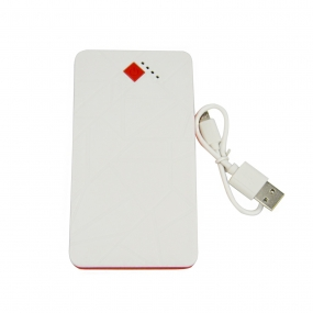 Portable Charger Power Bank 8000mAh 2-Output Fast Charging External Battery Charger - White