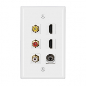 Combined 3xRCA 2xHDMI  and 1 port  3.5MM Wall Plate