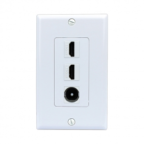 Combination Removable 2 Port HDMI and 1 Port Toslink Wall Plates