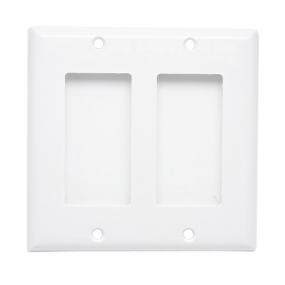 Custom and Design AllSmartLife 2-Pack 2 Gang 2 Port Keystone Wall Plate Big Hole