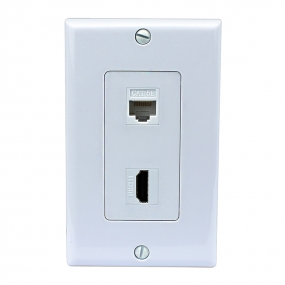 Multi Panel 1 Cat5e Ethernet and 1 HDMI Wall Plates