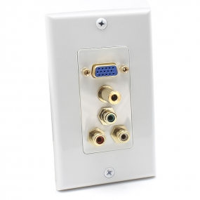 AllSmartLife VGA HD15/3 RCA Composite/3.5mm Wall Plate