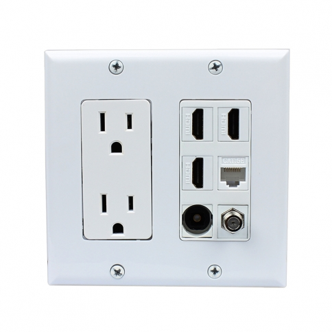 Multifunctional Combination 2x Power Outlet 3x Hdmi 1x