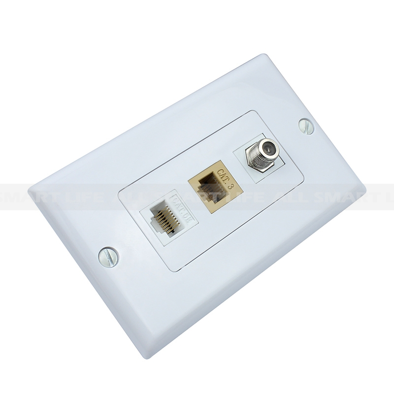 how to connect coax cable wall plate