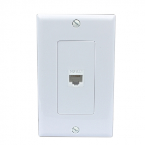 Easy Installation RJ45 Wall Plate Cat5E - White