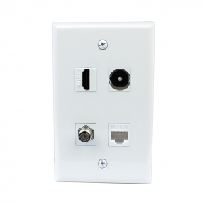 Combination 1 Port HDMI and 1 Port Toslink &1 port TV F type &1 port cat5e wall plate covers