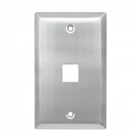 Stainless steel Wall Plates 1-Gang,1-Port RJ45 Wall Plate (1 Port)