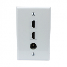 Recommend Mount 2 Port HDMI and 1 Port Toslink Wall Plate