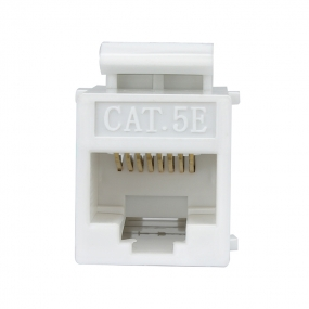 Cat5E RJ45 Double Female Keystone Jack Inline Coupler - White