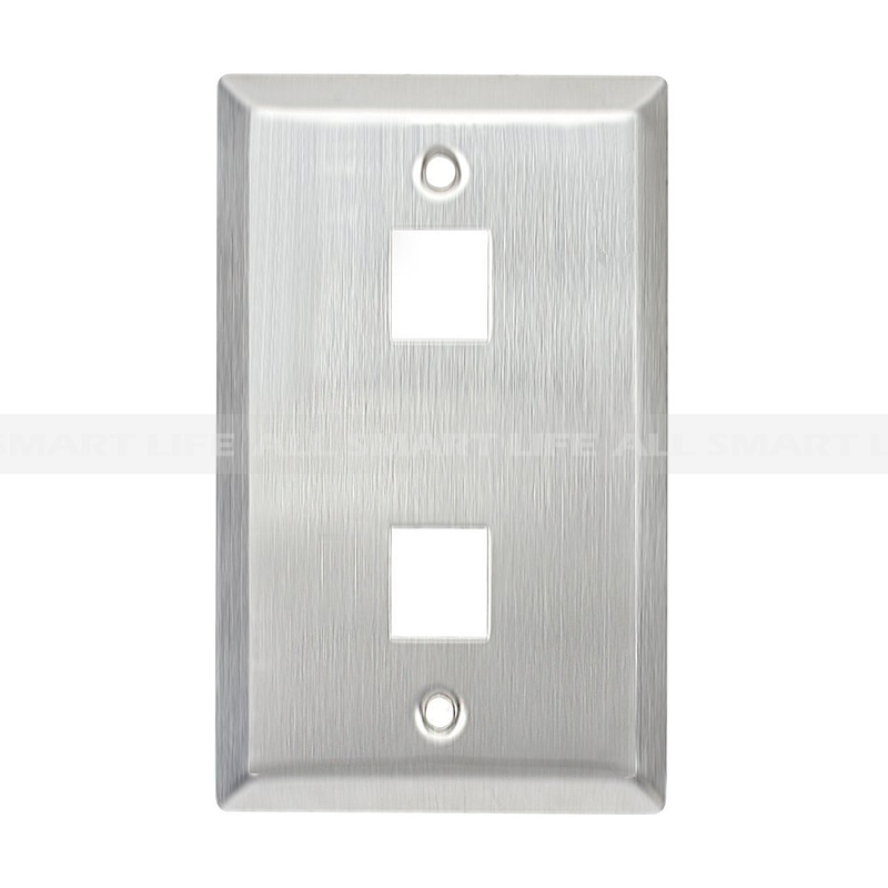 Stainless Steel Keystone Wall Plate 1 Gang Rj45 Cat5 Face