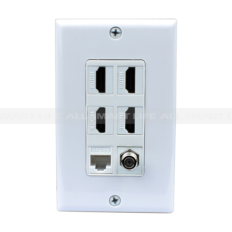 Combination 15 Amp Power Outlet and 1 Port Coax Cable TV- F-Type and ...