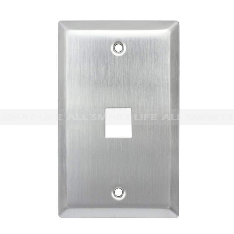 Stainless Steel Wall Plates 1 Gang 1 Port Rj45 Wall Plate