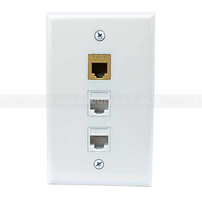 New easy installation 1 Port CAT3 and 2 Port Cat6 Ethernet Decora ...
