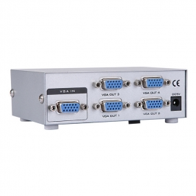 4 Port VGA Video Splitter - 1 in to 4 Out - 1 PC to 4 Monitors