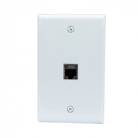 Brand new 1 Port Cat6 Shielded Female-Female Wall Plate White