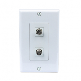 New easy Removable installation 2 Port Coax Cable TV F Type Wall Plate