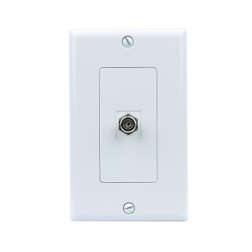 New Removable 1 Port Coax Cable TV F Type Wall Plate