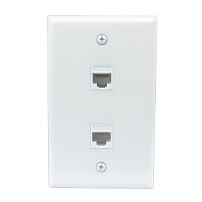 New 2 Port Cat6 Female-Female Wall Plates
