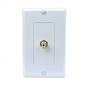 Single F-Type Coaxial Wall Plate