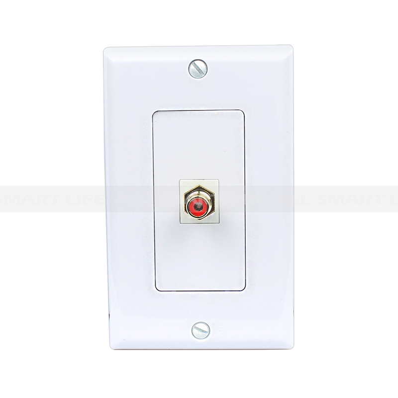Decora Wall Plate Insert Rca Stereo Rs Red 1 Female