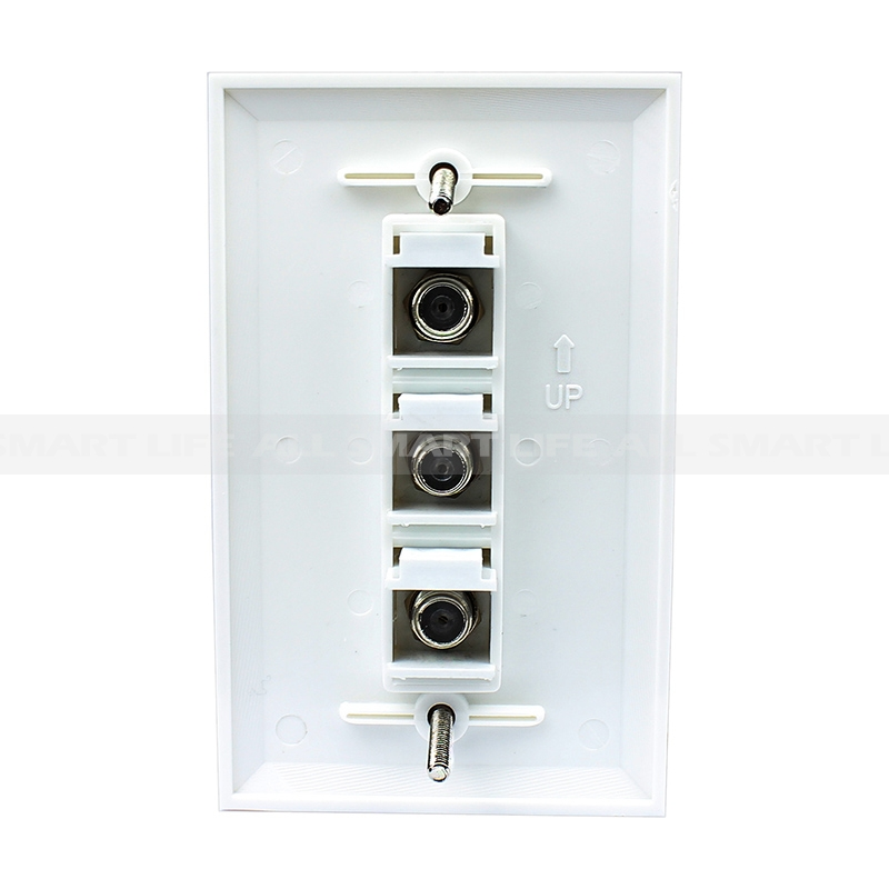 Cable Wall Plate Installation : New easy installation port coax cable tv f type wall plate