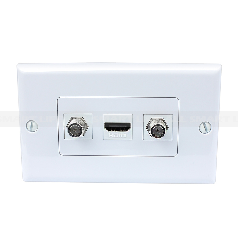 Cable Wall Plate Installation : New portable installation port hdmi coax cable tv