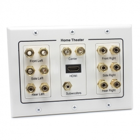 7 Pair Banana Binding Post&1 Port HDMI&1 Port subwoofers Jack connector  speaker Wall plate