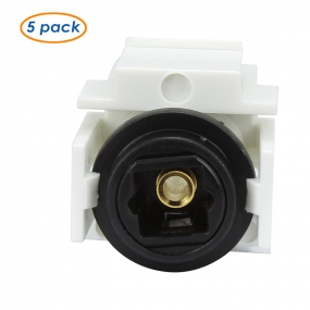 (5-Pack )Keystone Jack TOSLINK Female to Female Coupler Adapter