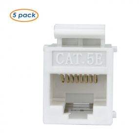 AllSmartLife 5-Pack  CAT5e Keystone Coupler