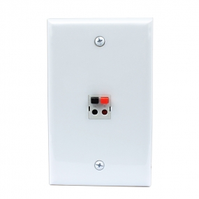 New easy installation 1 Port Speaker Wall Plate