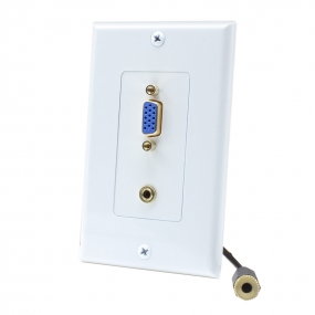 1 Vga and 3.5mm jack cable Home Theater system Wall plate For USA
