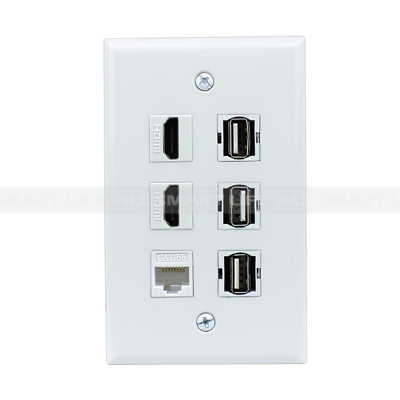 new easy installation 2 hdmi 1 cat5e ethernet white and 3. Black Bedroom Furniture Sets. Home Design Ideas