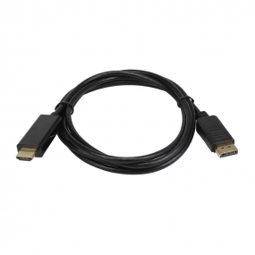 Wholesale DisplayPort to HDMI Cable Full HD 1080p 24k Gold Plated Connectors