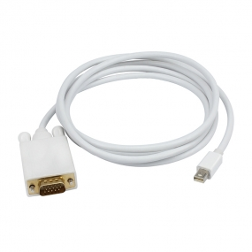 Brand new Mini Displayport  to VGA M/M Cable In White