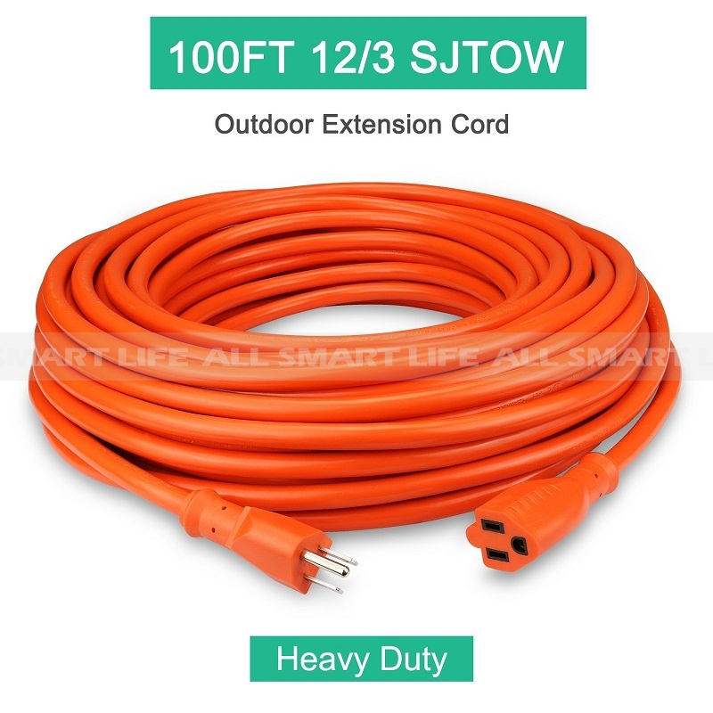 Outdoor Extension Cord 100ft 12 3c Allsmartlife Vinyl