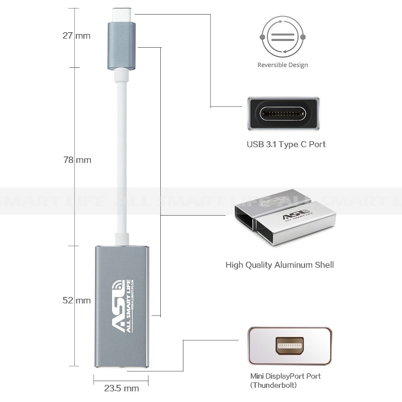 Usb 3 1 Type C To Mini Displayport Adapte