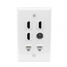 Multifunction 3 Port HDMI and 1 Port Toslink and 2 port CAT6 wall plate
