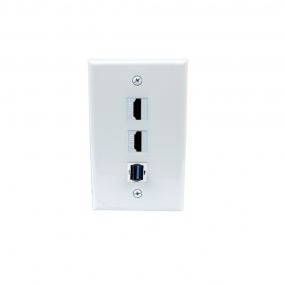 Combination Removable 2 Port HDMI and 1 Port USB 3.0 Wall Plates
